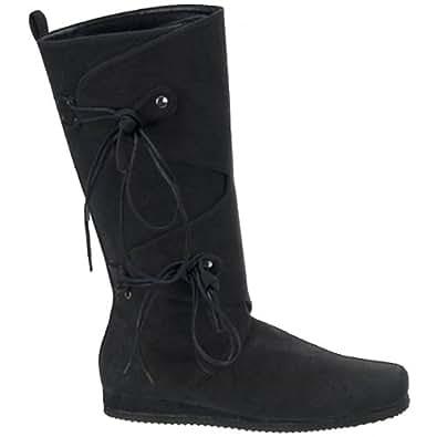 Black Viking Mens Renaissance Costume Boots - L