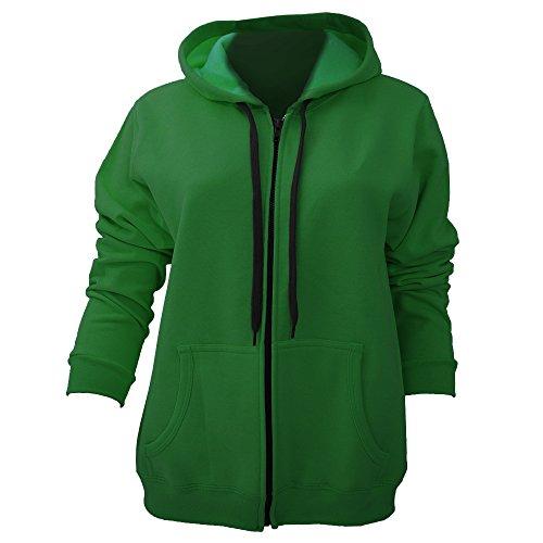 Heavy Blend Vintage Full Zip Hooded Sweatshirt / Hoodie (XXL) (Meadow) (Ladie Full Zip Hoody)