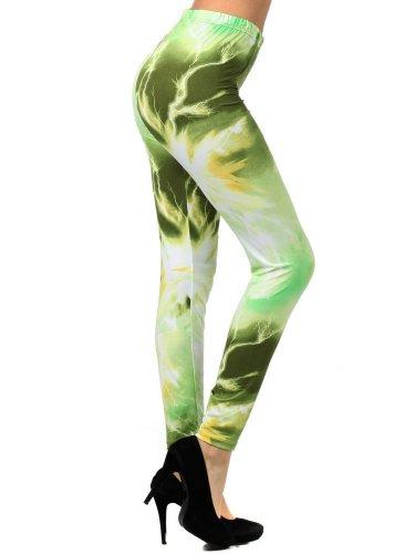 Electrifying Energy Olive Printed Legging product image