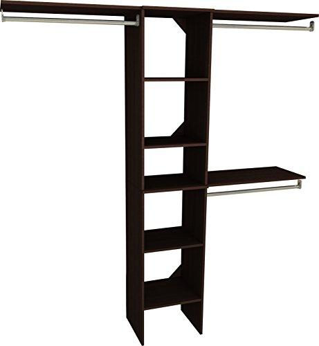 Espresso System - ClosetMaid 1951740 SuiteSymphony 16-Inch Closet Organizer with Shelves, Espresso