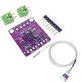 ICQUANZX PT100 MAX31865 RTD Temperature Thermocouple Sensor Amplifier Board Temperature Detector Module with Pt100 Temperature Sensor Probe 0.5m