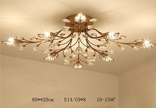 Beautiful Diy FamilyModern Crystal LED Ceiling Lamp,Leaf Flush Mount Ceiling Light  Fixture Decorative Crystal Chandelier