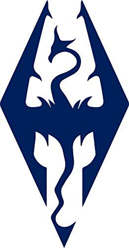 ANGDEST Skyrim Imperial Symbol (Navy Blue) (Set of 2) Premium Waterproof Vinyl Decal Stickers for Laptop Phone Accessory Helmet Car Window Bumper Mug Tuber Cup Door Wall Decoration