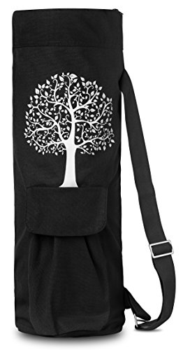 BalanceFrom GoYoga Full Zip Exercise Yoga Mat Bag with Multi-Functional Storage Pockets [Fits Both...