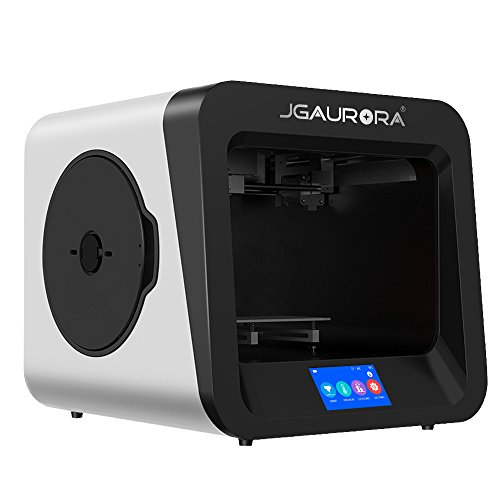 JGAURORA 3D Printer A4 Metal Structure 4.3in Color Touch Screen Power Failure Protection Removable Platform Filament…
