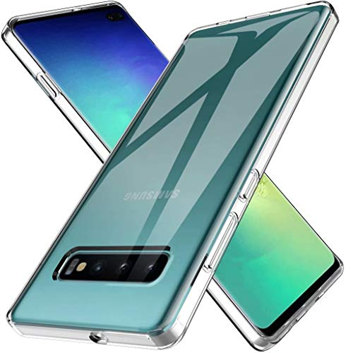 LK Case for Samsung Galaxy S10 Plus / S10+,Ultra [Slim Thin] Scratch Resistant TPU Rubber Soft Skin Silicone Protective Case Cover for Samsung Galaxy S10 Plus (Clear)