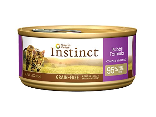 Instinct Original Grain Free Real Rabbit Recipe Natural Wet Canned Cat Food by Nature's Variety, 5.5 oz. Cans...
