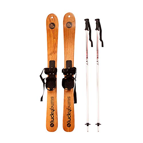 HECHEN Solid Wood skis - ski Double Board - sled 110cm125cm Snowboard Double Board - Package Snowboard Beginner Kids