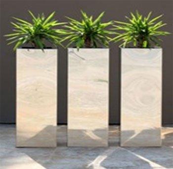Große Vasen vase aus edelstahl 30 x 30 x 60 cm grosse edelstahlvase stahlvase