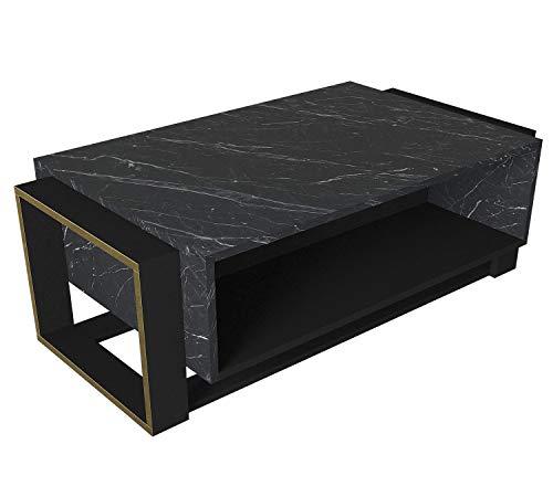 moebel17-5163-Bianco-Couchtisch-Sofatisch-Wohnzimmertisch-Tisch-fuers-Wohnzimmer-Holz-Braun-Dunkelgrau-Marmor-Optik-Hochglanz-Ablagefaecher-viel-Stauraum-Designertisch-107-x-41-x-60-cm