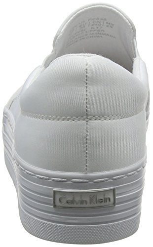Nylon Women's Klein Calvin Jeans White Slip Trainers 000 Wtw Flocking Zinah on CqgwwI