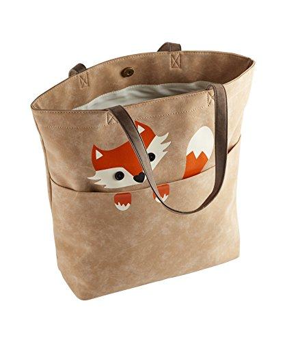 Schultertasche im Shopper-Stil mit Fuchs-Print von Joe Browns für Damen