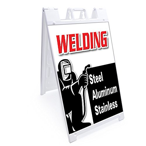 """A-frame Welding Steel Aluminum Stainless Sign With Graphics On Each Side 