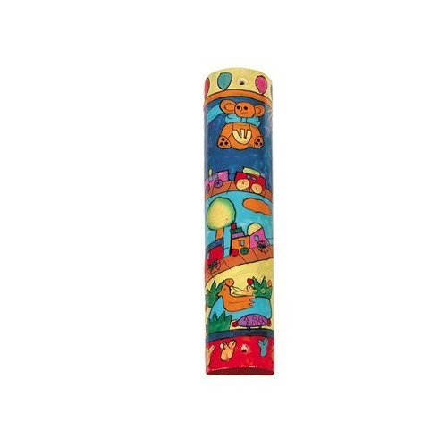 Yair Emanuel Small Mezuzah Scroll Case For Door - Toy Design (MZS-9) by Emanuel (Image #2)