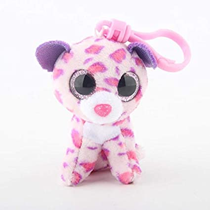 JEWH Ty Beanie Boos Big Eyes Plush Keychain Toy Doll Fox Owl Dog Unicorn Penguin Giraffe
