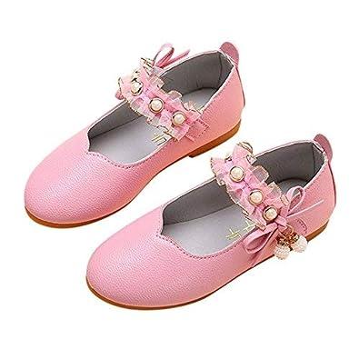 0a3a162e12616 子供靴 Plojuxi 女の子 ドレスシューズ ピアノ発表会靴 滑り止め フォーマル靴 蝶結び パール