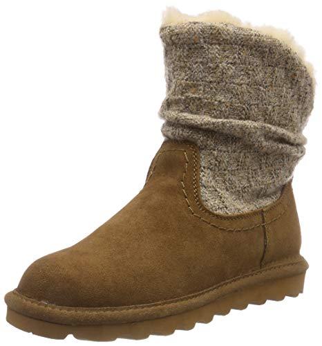 BEARPAW Women's Virginia Boot Hickory Suede Size 9 B(M) US (Wedge Sheepskin Suede Womens)