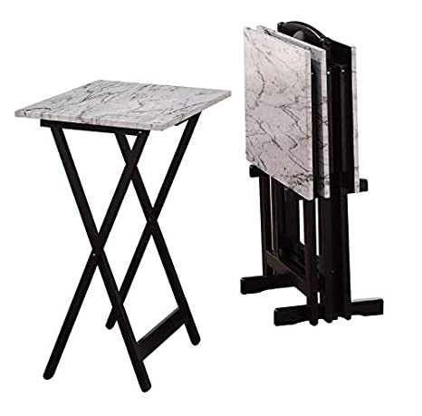 the latest 5ff10 0ffb5 Amazon.com: TV Tables for Eating Set of 4 Trays Dinner Stand ...