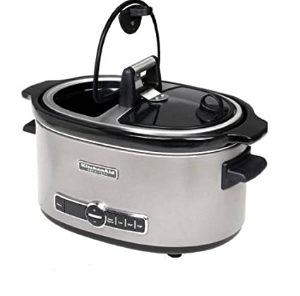 Amazon Com Kitchenaid Ksc6222acs Slow Cooker With Easy Serve Glass