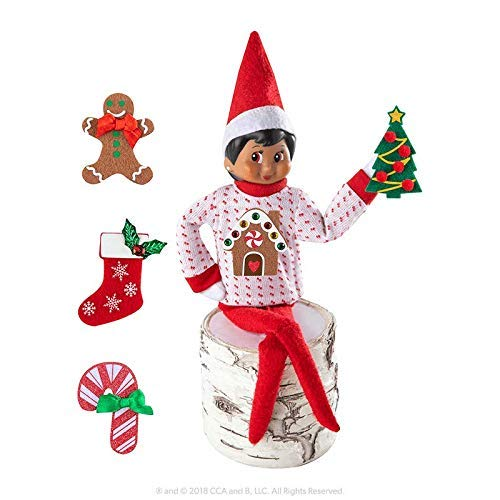 The Elf on the Shelf Boy Sweater Set - One Sweater with 5 Attachable Decals - Dress Your Elf 5 Different Ways ()