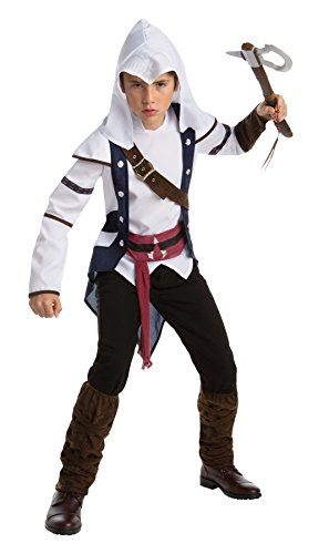 UHC Boy's Assassins Creed Connor Outfit Teen Halloween Fancy Costume, Teen (14-16)