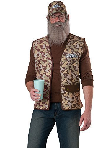Duck Dynasty Uncle SI Adult Costume, (Duck Dynasty Si Costumes)