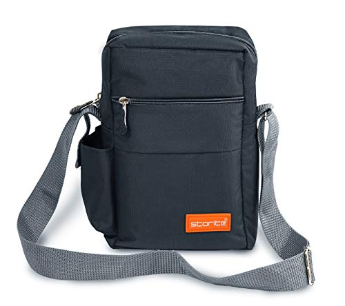 Storite Stylish Nylon Sling Cross Body Travel Office Business Messenger one Side Shoulder Bag for Men Women (25x16x7.5cm) (Dark Grey) 2
