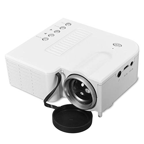 Pudincoco UC28B Mini Portable LED Projector 1080P Multimedia Family Cinema Home Theater USB TF Card Input Mini Beamer for PC Laptop(White)