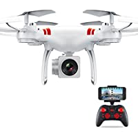RC Quadcopter, Coerni WiFi FPV Real Time Transmission 4CH Wide Angle Lens HD Camera RC Drone (White)