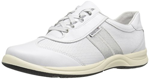 Mephisto Women's Laser Perf Oxford, White Smooth/Silver Ice, 10.5 M US