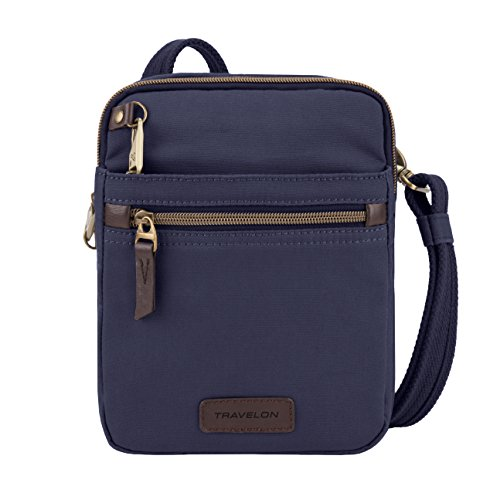 - Travelon: Anti-Theft Courier Small N/s Slim Travel Bag - Navy