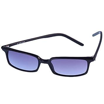 Marques Lunettes de soleil 400UV Freestyle rectangulaire monture fine Noir Bleu teinte 5bwsV