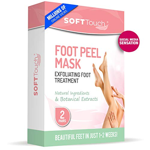 Foot Peel Mask – 2 Pack of Peeling Booties – Natural Foot Care Exfoliating Treatment Repairs Cracked Heels, Calluses & Removes Dead, Dry Skin for Baby Soft Touch Feet