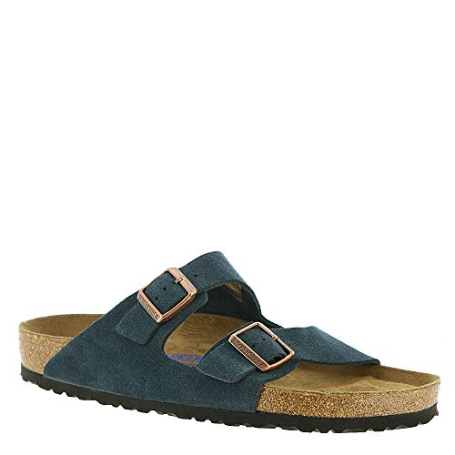 Birkenstock New Unisex Arizona SF Slide Sandal Navy Suede 40 R ()