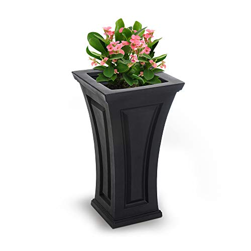 Lg Resin Tree - Mayne Inc Cambridge Tall Planter, Black
