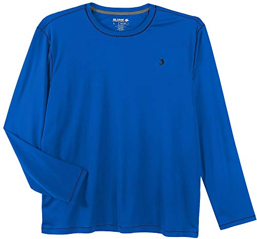 7dfef6da Reel Legends Mens Reel-Tec Long Sleeve Shirt Small Money Blue