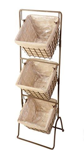 (Panacea 086242 3 Tier Harvest Baskets Planter Stand, 1/cs (Carton Size-16