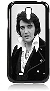 Elvis Presley- Hard Black Plastic Snap - On Case with Soft Black Rubber Lining-Galaxy s4 i9500 - Great Quality!