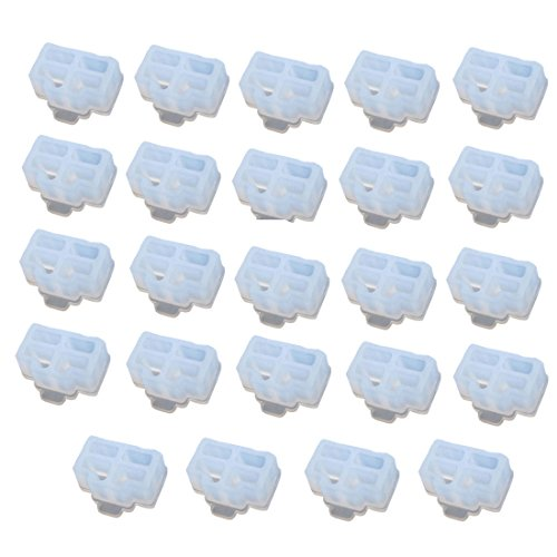 Antrader 24 Pcs Silicone Ethernet Hub Port RJ-45 Anti Dust Cover Cap Protector Plug White
