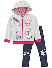 Peppa Pig Girls Unicorns Hoodie Leggings Set