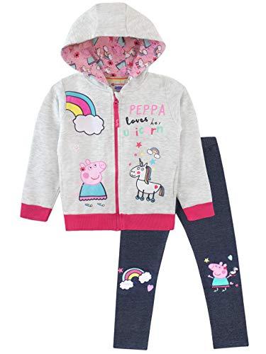 Pig Sweatshirt T-shirt - Peppa Pig Girls' Unicorns Hoody and Leggings Set Size 4 Multicolored