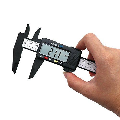QST 150mm 6 inch LCD Digital Electronic Carbon Fiber Vernier Caliper Gauge Micrometer 0-6