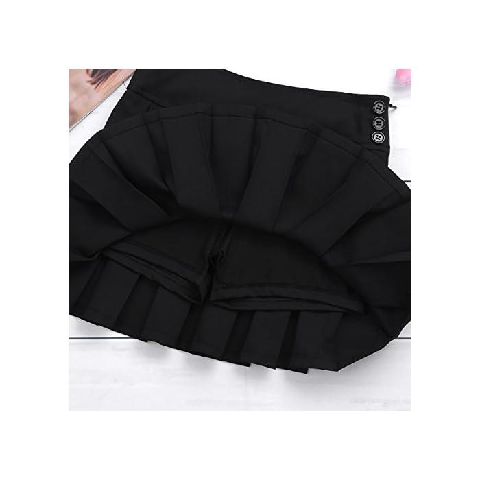 41S201dT7JL La falda está hecha de material de poliéster y spandex La mesa del talla bajo de la página es SÓLO PARA REFERENCIA. Verifique bien la talla y elija el tamaño adecuado según sus hábitos de vestir Poliéster y Spandex