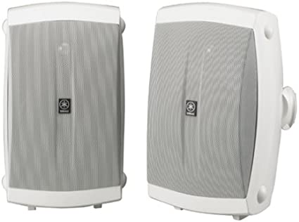 White Pair New Yamaha NS-AW350W All-Weather Indoor//Outdoor 2-Way Speakers