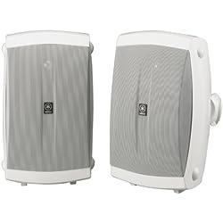 4 Seapkers + AmazonBasics.. White Yamaha NS-AW150WH 2-Way Outdoor Speakers