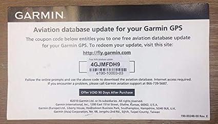 Garmin Jeppesen GPS Aviation Databases Update Certificate - - Amazon com