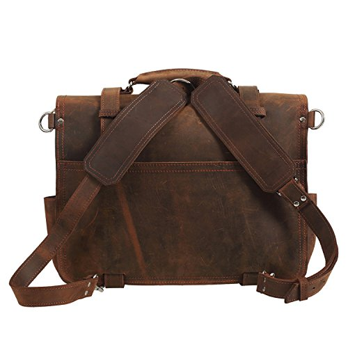 Amazon.com: Texbo Real Thick Cowhide Leather Men's Shoulder ...