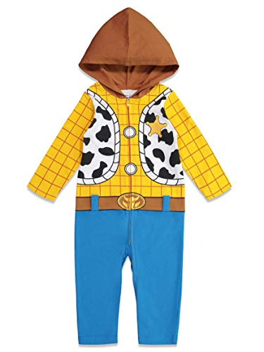 Easy Group Costumes (Disney Pixar Toy Story Woody Toddler Boys Zip-Up Hooded Costume Coverall)
