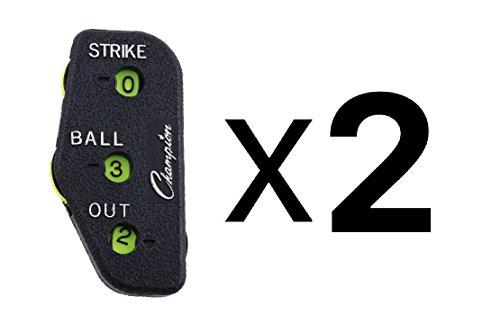 Umpire Indicator (Champion Sports 3 Dial Baseball Softball Umpire Indicator Count Clicker (2-Pack))