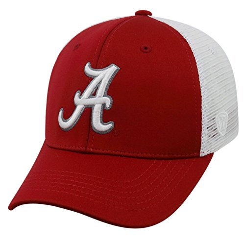 Top of the World NCAA-Ranger Trucker Mesh-Adjustable Snapback Hat Cap-Alabama Crimson ()